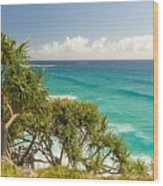 Queensland Coastline Wood Print