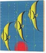Queensland Great Barrier Reef - Restored Vintage Poster Wood Print