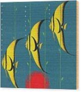 Queensland Great Barrier Reef - Vintage Poster Vintagelized Wood Print