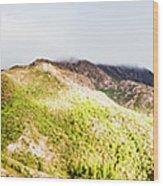 Queenstown Tasmania Wide Mountain Landscape Wood Print