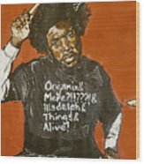 Questlove Wood Print