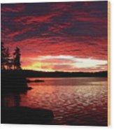 Quetico Sun Rise Wood Print