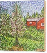 Quick Blossoms, New Grass Wood Print