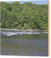 Quick River Wood Print
