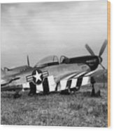 Quick Silver P-51 Mustang Wood Print by Peter Chilelli
