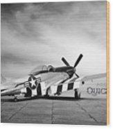 Quick Silver P-51  Wood Print