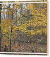 Quiet Autumn Morning Wood Print