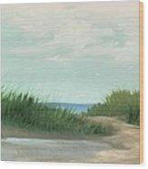 Quiet Beach Wood Print