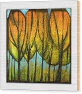 Quiet Blaze Wood Print