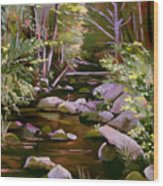 Quiet Brook Wood Print