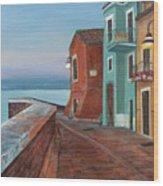 Quiet Sicilian Town Wood Print