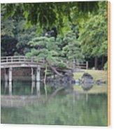 Quiet Day In Tokyo Park Wood Print