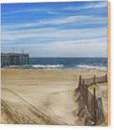 Quiet Day On The Beach Wood Print
