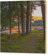 Quiet Evening, Pocono Wood Print
