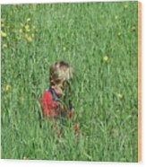 Quiet Fields Wood Print