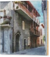 Quiet In Almenno San Salvatore Wood Print