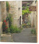 Quiet Lane In St Cirq I France Wood Print