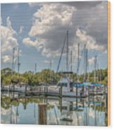 Quiet Marina Wood Print