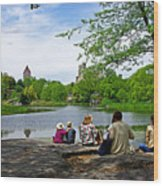 Quiet Moment In Central Park Wood Print