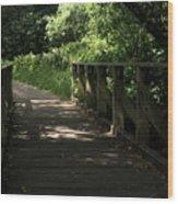 Quiet Path Bridge Wood Print