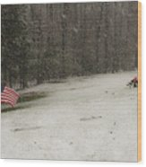 Quiet Remembrance Quantico National Cemetery Wood Print