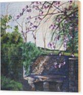 Quiet Repast In The Cotswalds Wood Print