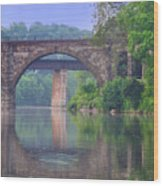Quiet River Wood Print by Bill Cannon