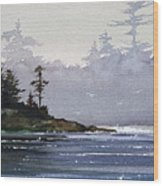 Quiet Shore Wood Print