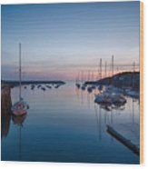 Quiet Solitude Rockport Harbor Wood Print