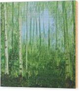 Quiet Stroll Wood Print