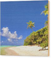 Quiet Tahiti Beach Wood Print
