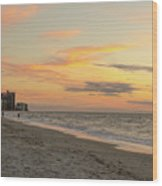 Quiet Time At The Beach Wood Print