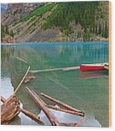Moraine Lake I, Alberta Wood Print