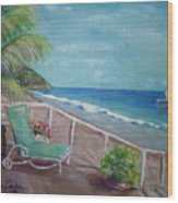 Quiet Time In Malibu Wood Print