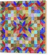 Quilt Pattern No. 1 Wood Print
