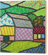 Quilted Bath County Barn Wood Print