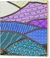 Quilted Mountain Wood Print