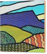 Quilted Mountain Peak Wood Print