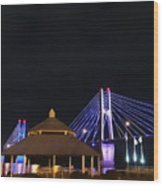 Quincy Bay View At Night Wood Print