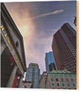 Quincy Market Sky Wood Print