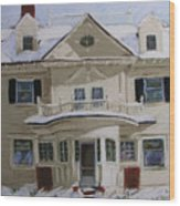 Quincy Street Wood Print by Mary Capriole