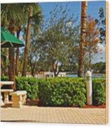 Quite Corner In Weston Florida Wood Print
