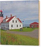 Quoddy Head Lighthouse Wood Print