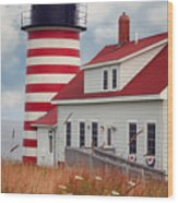 Quoddy Lighthouse Afternoon Wood Print