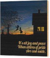 Quote2 Wood Print