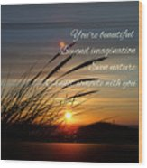 Quote5 Wood Print