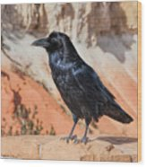 Quoth The Raven Wood Print
