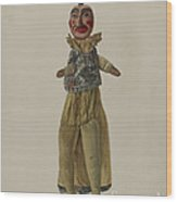 """punch"" Clown Puppet Wood Print"