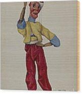 """sinbad"" Marionette Wood Print"