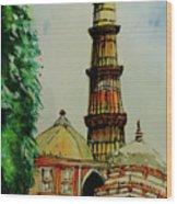 Qutab Minar Of India, Monument Of India Wood Print